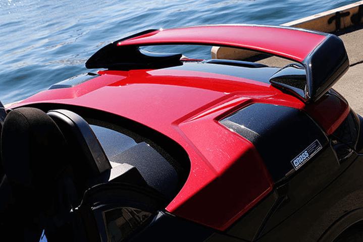 コペン LA400K 外装 エアロパーツ リアスポイラー/ウイング TAKE OFF エクストリック リアウイング(ROBE)
