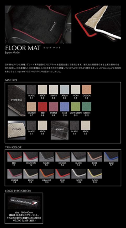 LEXUS RX 10/15W 内装 フロアマット フロアマット(本体) WALD WALD インテリアート・フロアマット(ジャパンメイド)
