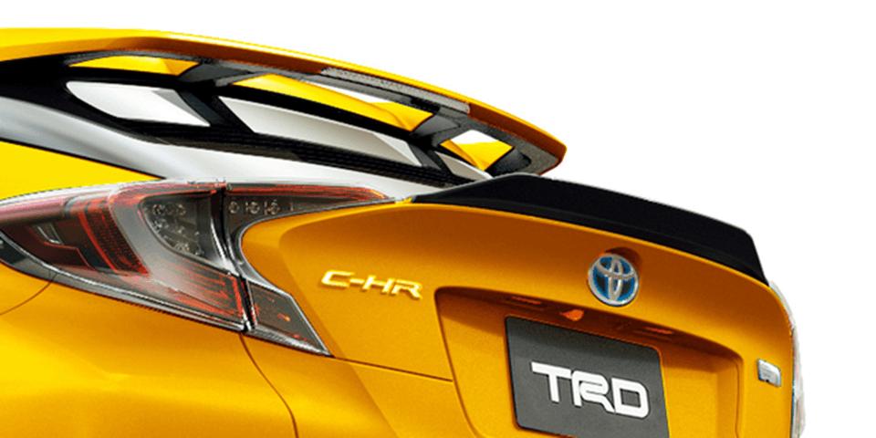 C-HR 外装 エアロパーツ リアスポイラー/ウイング TRD EXTREME STYLE リアトランクスポイラー