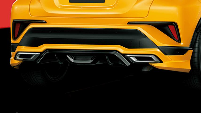 C-HR 外装 エアロパーツ リアアンダースポイラー トヨタ モデリスタ BOOST IMPULSE STYLE リアスカート