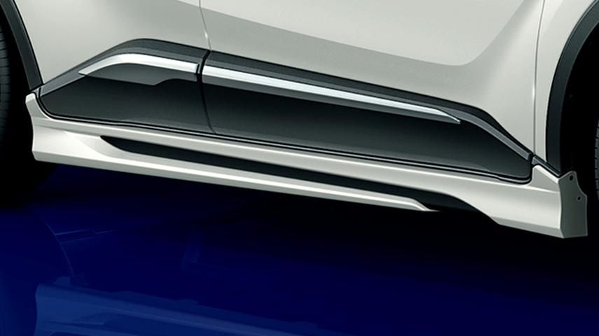 C-HR 外装 エアロパーツ サイドステップ トヨタ モデリスタ ELEGANT ICE STYLE サイドスカート