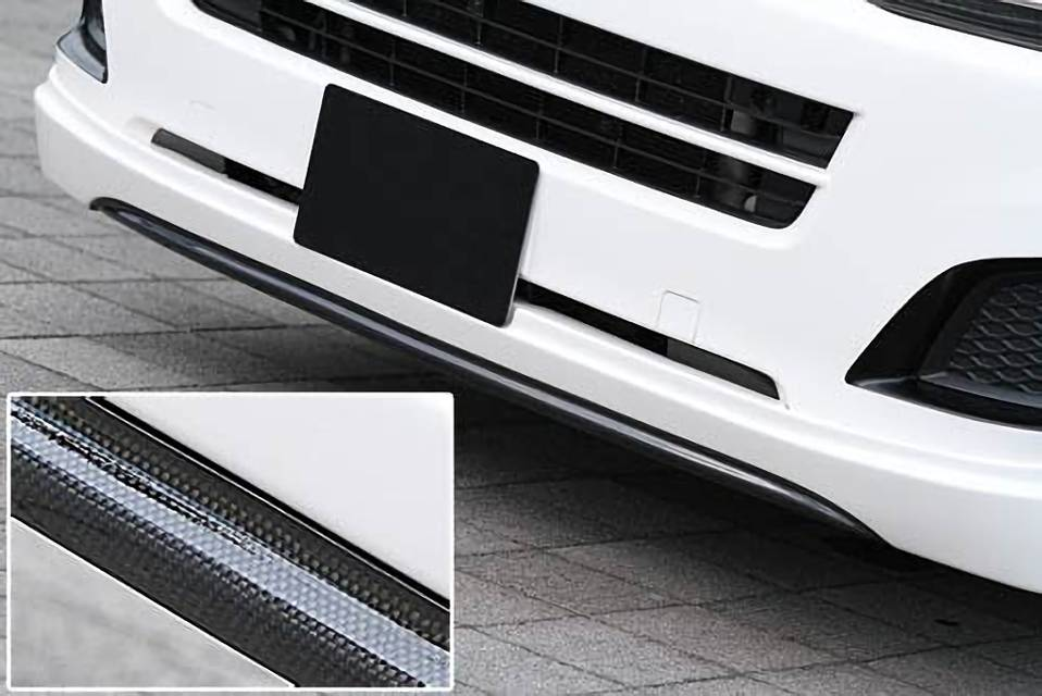 200 ハイエース(4型) 外装 外装その他 外装アクセサリー類 UI Vehicle Forbito カーボンアーチパネル(リアルカーボン) フロント クリアー仕上げ