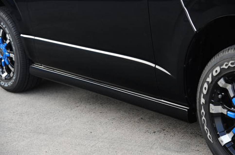 200 ハイエース(3型) 外装 エアロパーツ サイドステップ タイヤハウスマスダ 新型ハイエース200系 標準ボディサイドステップ