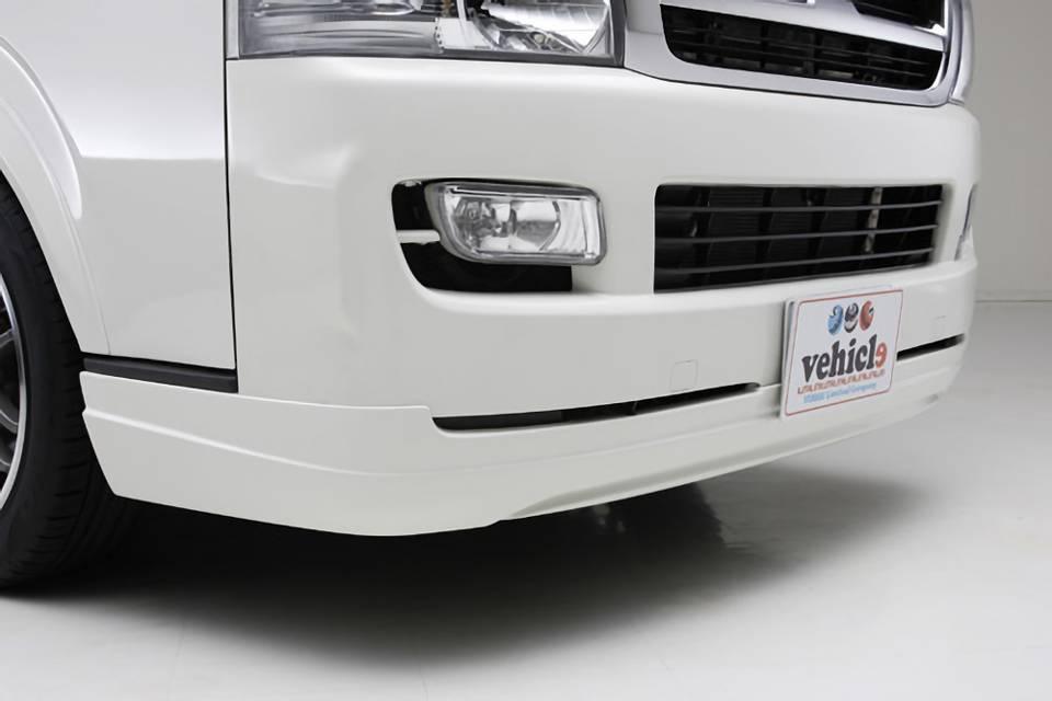 200 ハイエース(3型) 外装 エアロパーツ フロントリップスポイラー UI Vehicle Forbito フロントリップスポイラー標準ボディ用