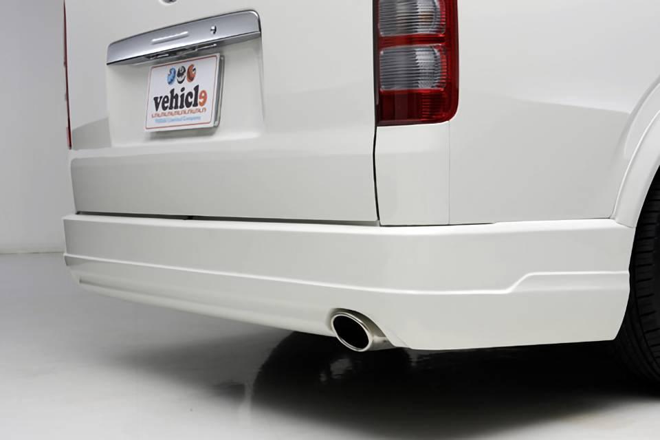 200 ハイエース(3型) 外装 エアロパーツ リアバンパー UI Vehicle Forbito リアバンパースポイラー標準ボディ用