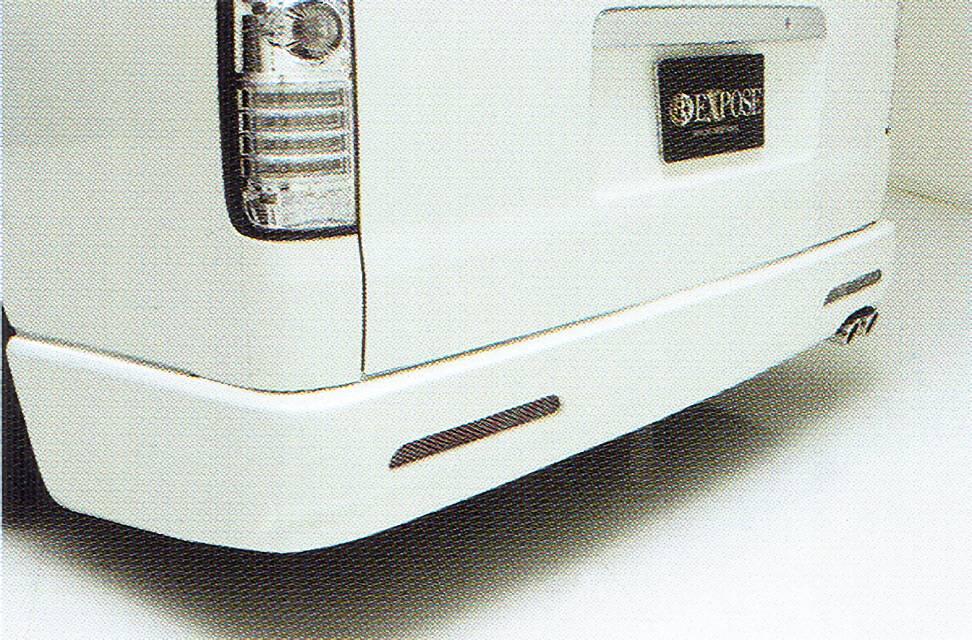 200 ハイエース ワイド(1,2型) 外装 エアロパーツ リアバンパー EXPOSE Rear Bumper Spoiler[ネット付]