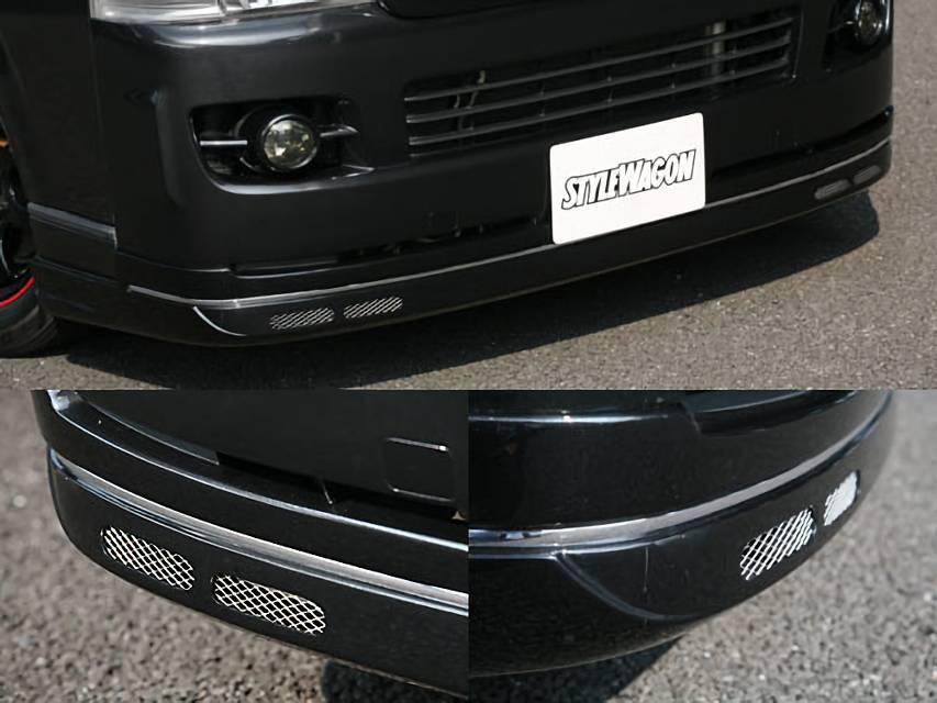 200 ハイエース(1,2型) 外装 エアロパーツ フロントリップスポイラー SHINKE SHINKE】ハイエース200系ナロー用 SHINKE フロントリップスポイラー