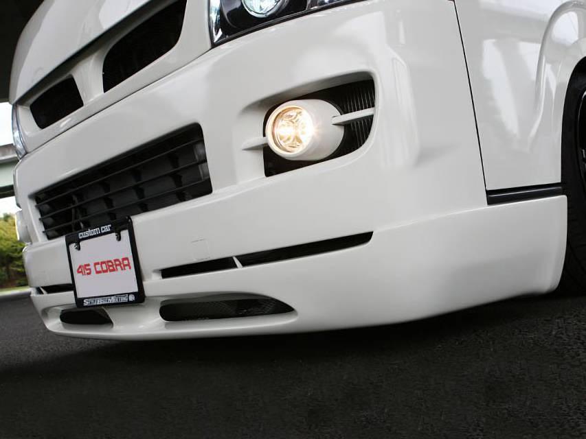 200 ハイエース(1,2型) 外装 エアロパーツ フロントリップスポイラー 415 COBRA 【ナロー】 STAGE I フロントスポイラー