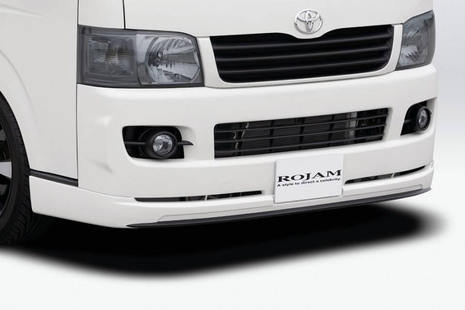 200 ハイエース(1,2型) 外装 エアロパーツ フロントリップスポイラー ROJAM ROJAM IRT ハイエース 200系 フロントリップスポイラー