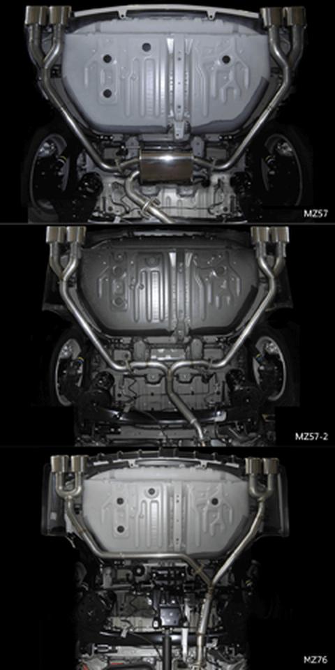 80/85 ノア 排気系 マフラー マフラー本体 M'z SPEED Exhaust System左右4本出し