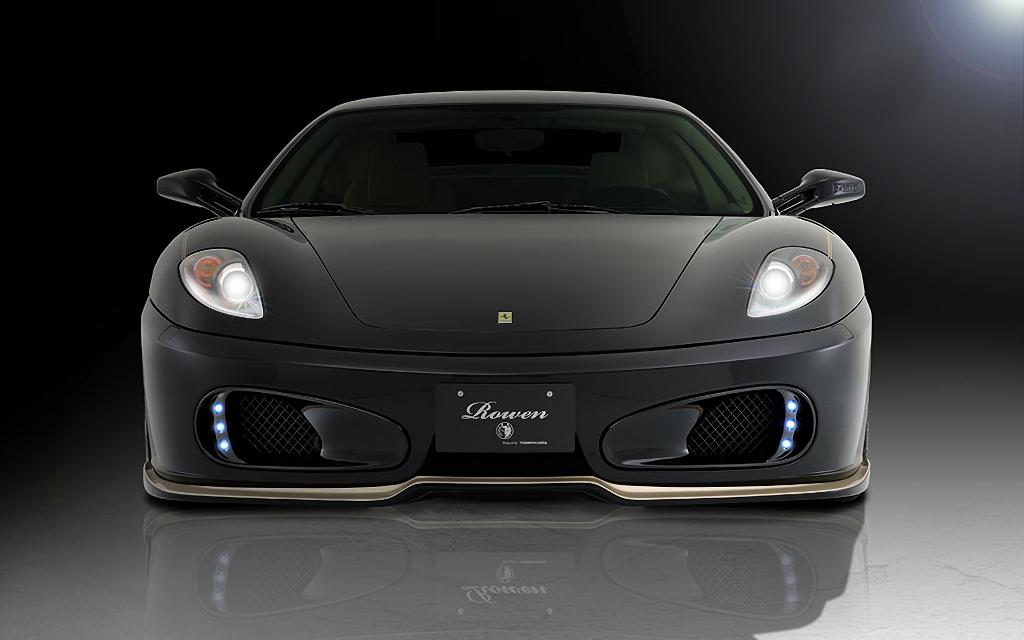 Ferrari F430 外装 エアロパーツ フロントリップスポイラー ROWEN(ロェン) フロントスポイラー(FRP/FRP+Carbon)