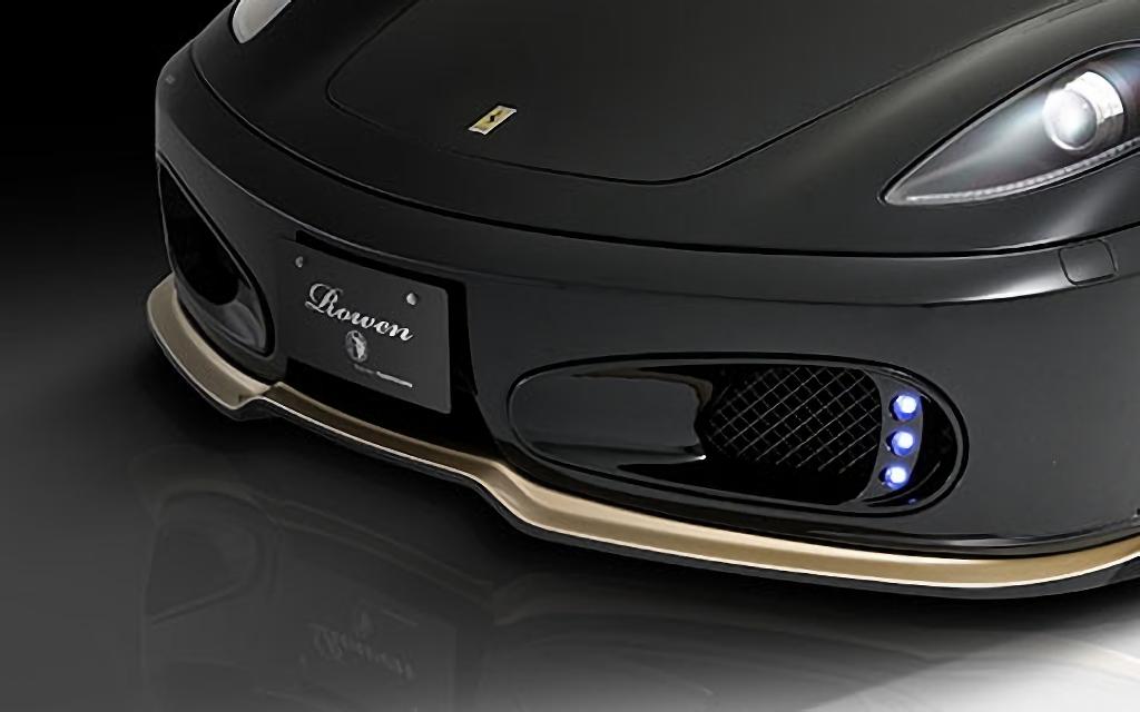 Ferrari F430 外装 エアロパーツ その他 ROWEN(ロェン) フロントダクトカバー(FRP/FRP+Carbon)
