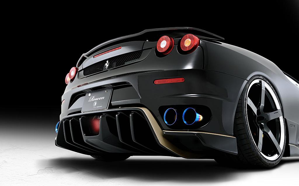 Ferrari F430 外装 エアロパーツ リアアンダースポイラー ROWEN(ロェン) リヤアンダーエクステンション(FRP/Carbon)