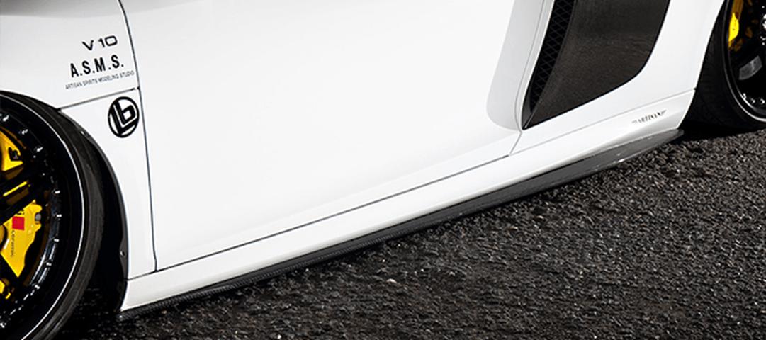 Audi R8 v10 外装 エアロパーツ サイドステップ ARTISAN SPIRITS SIDE DIFFUSER