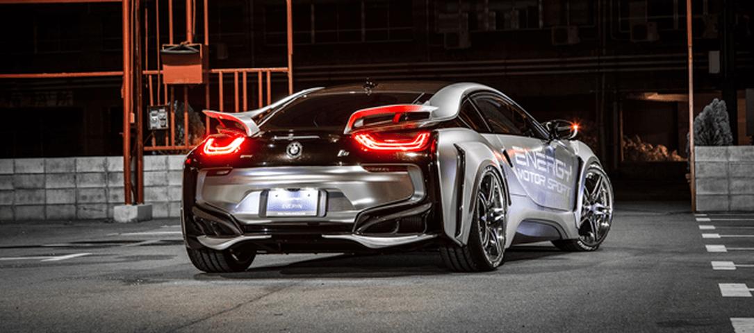 BMW i8 外装 エアロパーツ リアアンダースポイラー ENERGY MOTOR SPORT リアフリッパーキット カーボンエディション