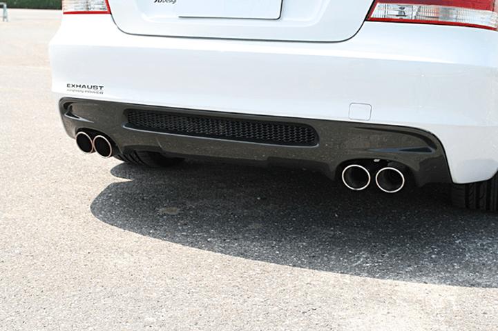 BMW 1 Series E82 Coupe 外装 エアロパーツ リアディフューザー 3D Design リアディフューザー【デュアル】