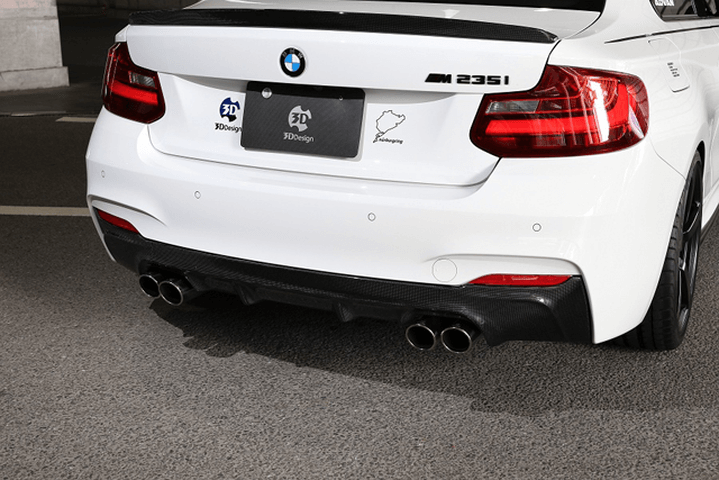 BMW 2 Series F22 外装 エアロパーツ リアディフューザー 3D Design リアディフューザー(デュアル4テール)