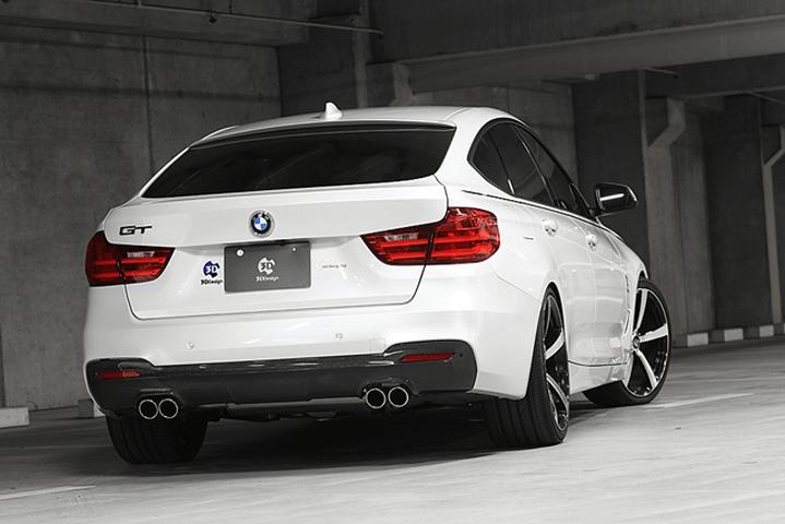 BMW 3 Series F30/F31/F34 外装 エアロパーツ リアディフューザー 3D Design リアディフューザー(デュアル4テール)