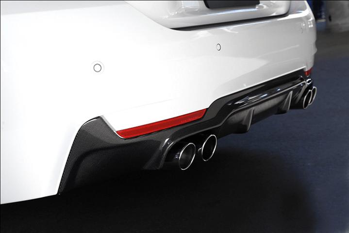 BMW 4 Series F32/F33 外装 エアロパーツ リアディフューザー 3D Design リアディフューザー(デュアル4テール)