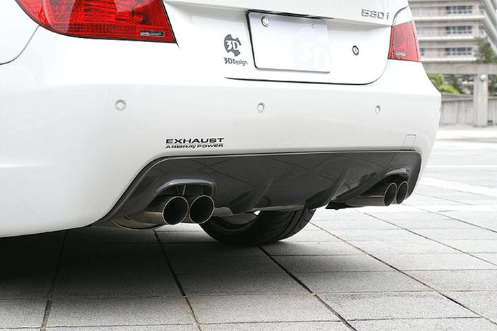 BMW 5 Series E60/E61 外装 エアロパーツ リアディフューザー 3D Design リアディフューザー(デュアルマフラー用)