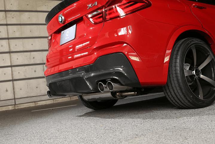 BMW X4 F26 外装 エアロパーツ リアスポイラー/ウイング 3D Design リアディフューザー(デュアル4テール)