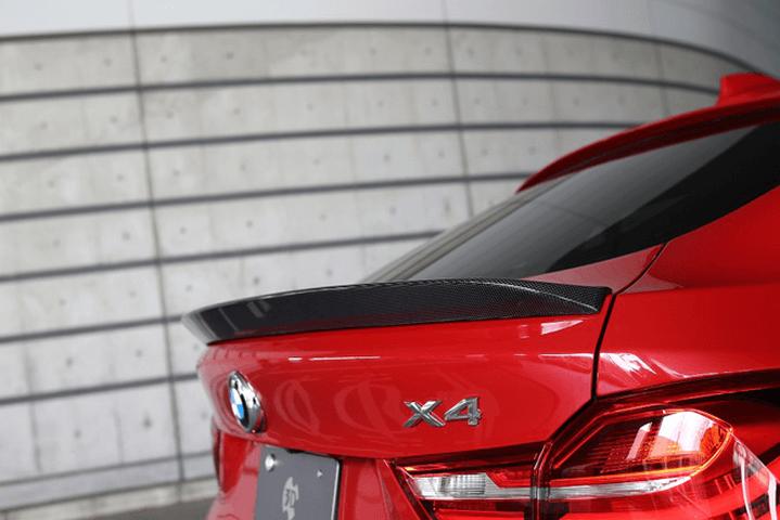 BMW X4 F26 外装 エアロパーツ リアスポイラー/ウイング 3D Design トランクスポイラー(カーボン)
