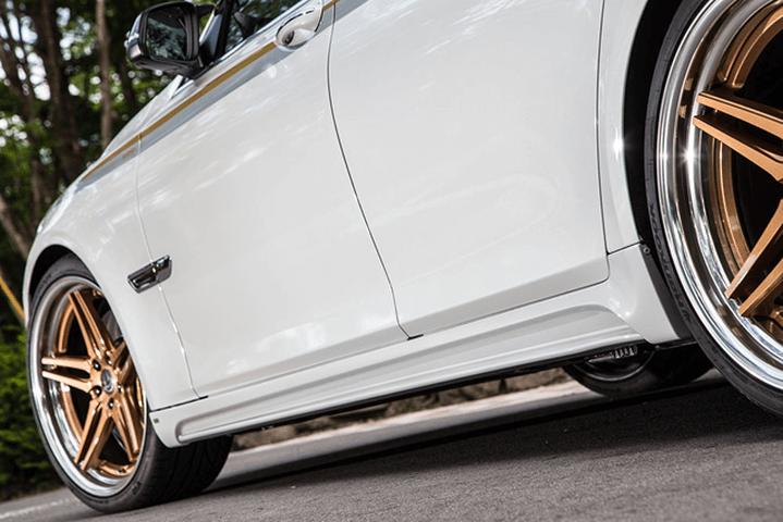 BMW 7 Series F01/F02 外装 エアロパーツ サイドステップ ENERGY MOTOR SPORT サイドスポイラー(左右セット)※ショートor ロングを選択