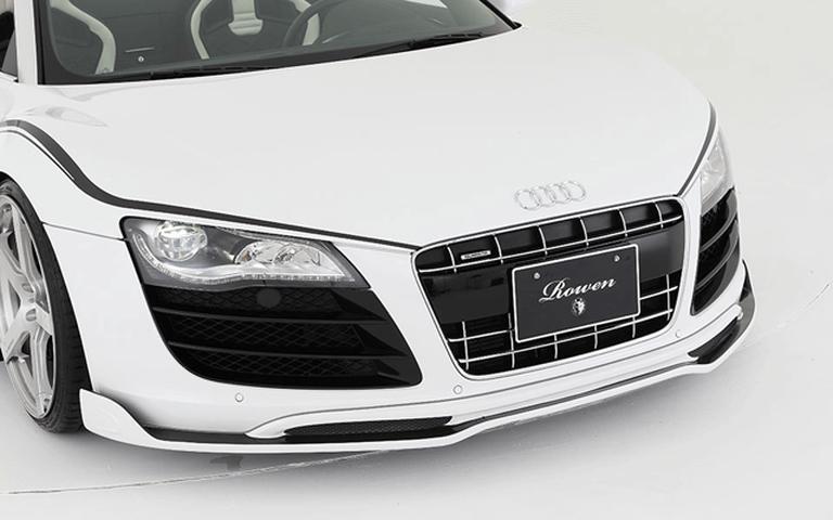 Audi R8 Spyder 外装 エアロパーツ フロントリップスポイラー ROWEN(ロェン) フロントスポイラー