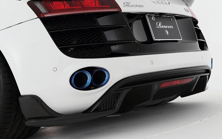 Audi R8 Spyder 外装 エアロパーツ リアディフューザー ROWEN(ロェン) リヤアンダーエクステンション