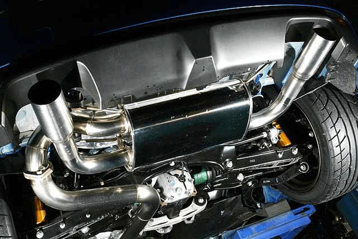 GRB/GRF インプレッサハッチバック STI 排気系 マフラー マフラー本体 フジムラオート ジェントルサウンドマフラー