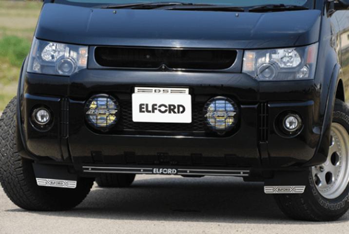 デリカD:5 外装 エアロパーツ アンダーパネル ELFORD フロントディフューザースペシャル