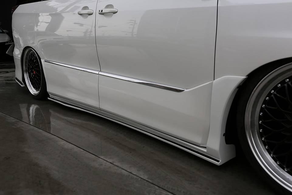 CR50/55 エスティマ エアロパーツ サイドステップ シックスセンス サイドステップ