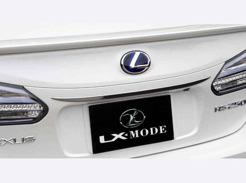 LEXUS HS  LX-MODE LXクロームリアガーニッシュ