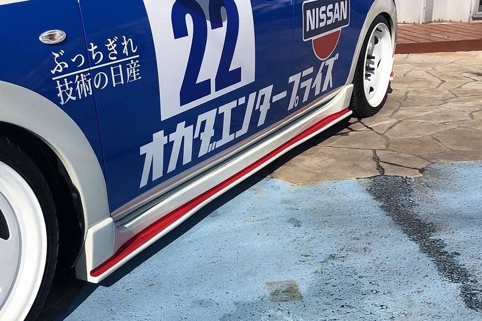 ZE0/AZE0リーフ エアロパーツ サイドステップ オカダエンタープライズ サイドフラップ