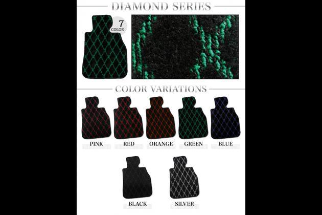 【フロアマット】マセラティ(MASERATI)クアトロポルテMQP#(右ハンドル車専用マット) ダイヤモンドシリーズ