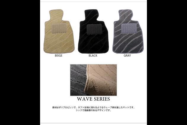 【フロアマット】ダイハツ(DAIHATSU) ネイキッド L750S、L760S ウェーブシリーズ