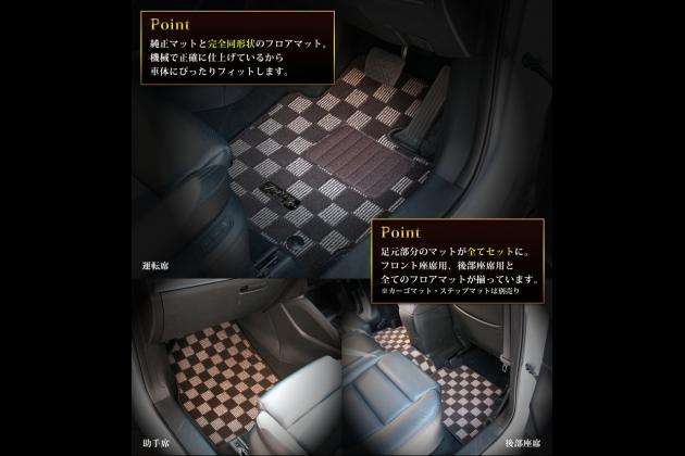 【カーゴマット】三菱(MITSUBISHI) デリカ(DELICA) D:5 CV5W、CV4W、CV2W、CV1W 平成19年1月~ パステルシリーズ
