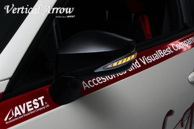 Vertical Arrow TypeL LED ドアミラーウィンカーレンズ  艶消しブラック